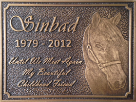 Bronze Pet Memorial Plaques