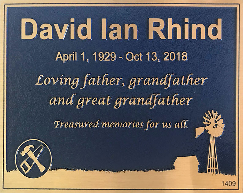 Custom custom Memorial Plaque
