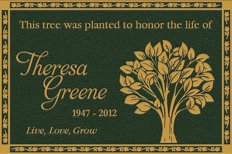 Personalized Memorial Garden Plaques